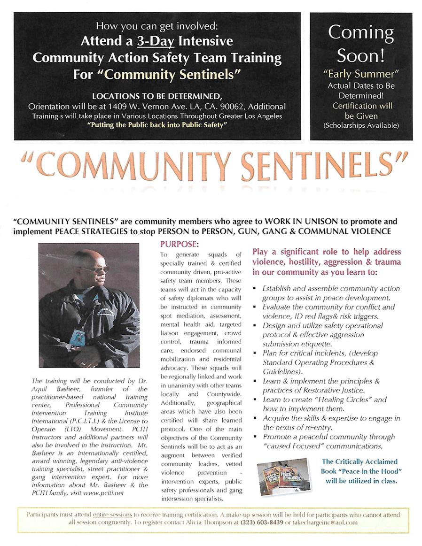 Community Sentinels