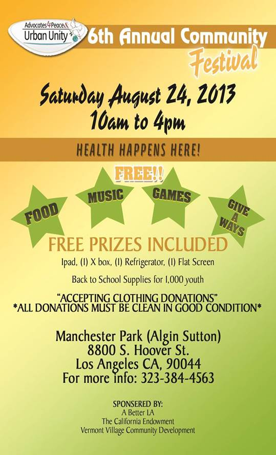 6th Annual Community Festival